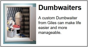 Dumbwaiter sales and service in Charleston by Giles Professional Services